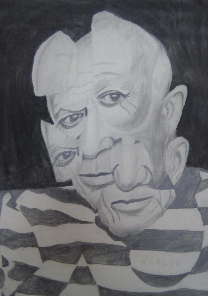 """""""Picasso"""" de Ventura Calso, en la exposición """"Yo también"""". Foto: Grupo AMÁS"""