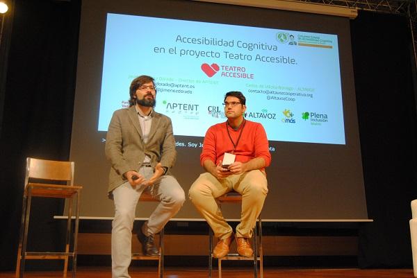 Presentación del proyecto Teatro Accesible en el I Congreso de Accesibilidad Cognitiva en Cáceres. Foto: Grupo AMÁS.