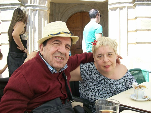 Virginia Blanco y José Manuel Rodríguez durante sus vacaciones.