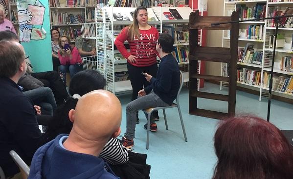 """Dramatización de AMÁS Escena del libro """"El amor es demasiado complicado"""". Foto: Grupo AMÁS."""