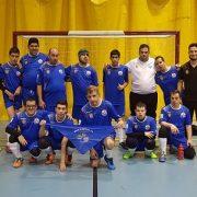 Equipo de Grupo AMÁS en I Campeonato Nacional Inclusivo de Fútbol Playa en Torrijos . Foto: Grupo AMÁS.