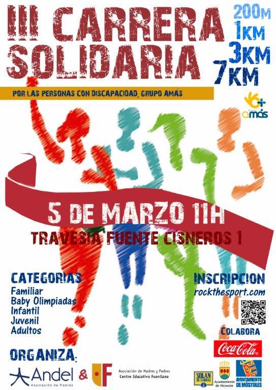 Carrera Solidaria Fuenllana en beneficio de Grupo AMÁS.