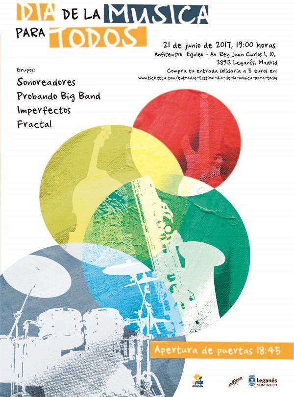 """Concierto """"Día de la música para todos"""", el 21 de junio en Leganés."""