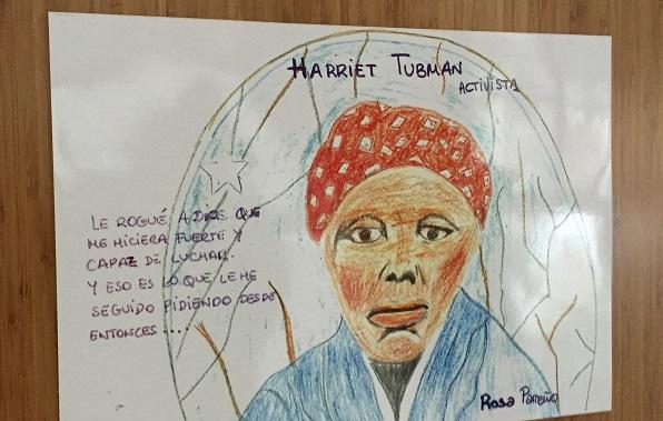 """Ilustración de la exposición """"Mujeres con Importancia"""". Foto: Grupo AMÁS."""