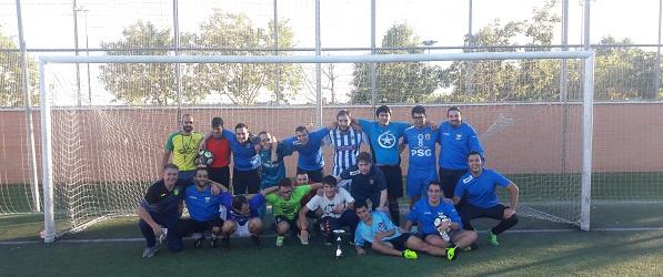 Equipo de Fútbol 8 de Grupo AMÁS. Foto: Grupo AMÁS.