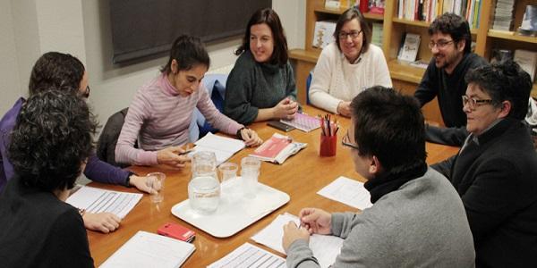 Grupo de trabajo en Lectura Fácil. Foto: Plena Inclusión Madrid.