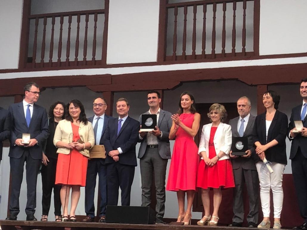 La Reina entrega en Almagro los premios del Real Patronato de la Discapacidad. Foto: Grupo AMÁS.