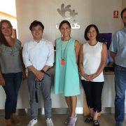 Los profesores Fuminori Tamba, Keiko Fakuda y Yuri Ota durante su visita al Centro Residencial Nuevo Parque Polvoranca de Grupo AMÁS. Foto: Grupo AMÁS.