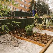 """""""Taller de jardineras con madera reciclada"""" y """"Plántate en Sufragio"""", en la Semana del Medio Ambiente de Leganés. Foto: Grupo AMÁS."""