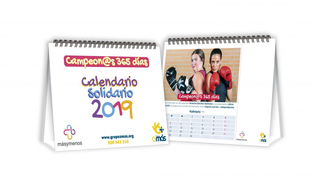 """Calendario de mesa """"Campeones 365 días"""". Foto: Grupo AMÁS."""