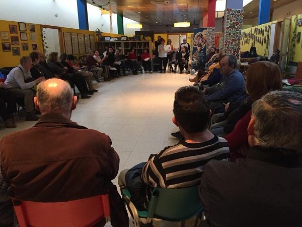 Acto de apoyo en el Centro Ocupacional Sufragio. Foto Grupo AMÁS
