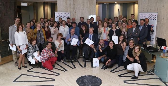 Firma de los Convenios Sociales de Fundación Ibercaja con las Asociaciones seleccionadas en Madrid.