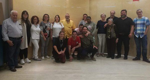 """Equipo de validadores de AMÁS Fácil para el programa """"Museo Fácil"""". Foto: Grupo AMÁS."""