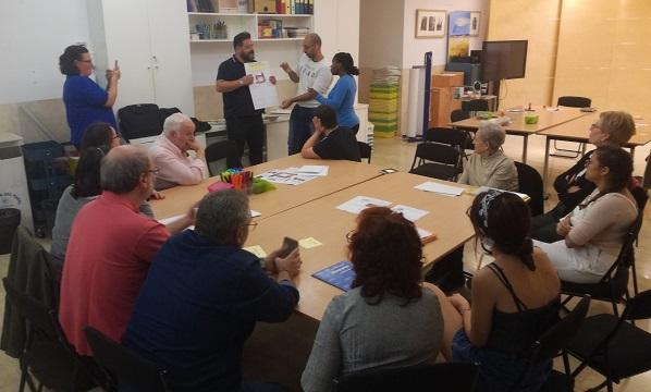 """Grupo de comprensión del programa """"Museo Fácil"""". Foto: Grupo AMÁS."""