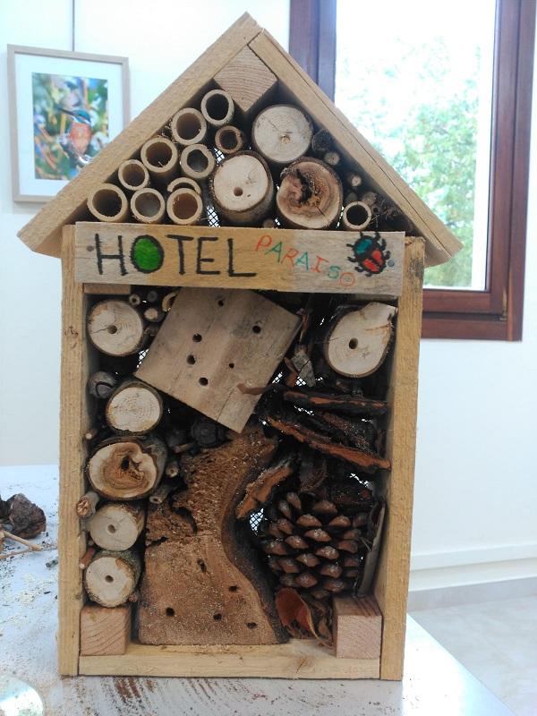 Hotel para insectos. Foto: Grupo AMÁS