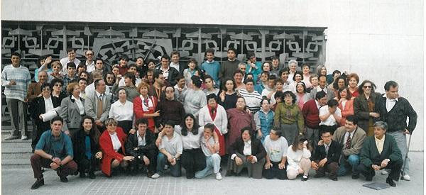 Primeras reuniones en la Parroquia San Juan de Mata en Alcorcón. Foto: Grupo AMÁS.