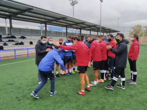 Josemi con el equipo del CD Leganés