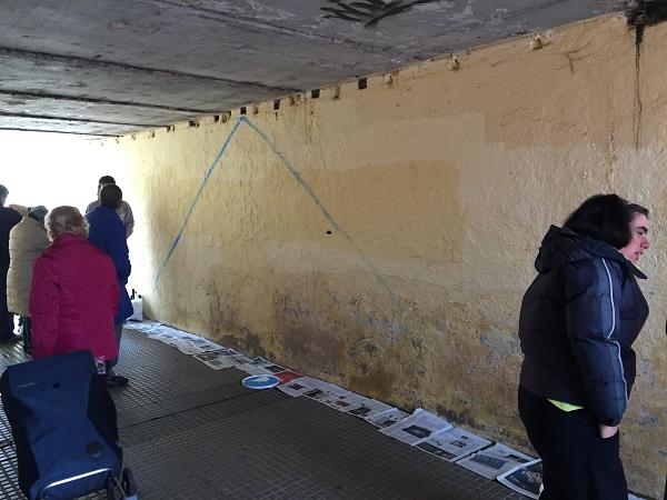 """Aspecto del pasaje de la calle Sabatini antes de la iniciativa """"Transforma tu ciudad"""". Foto: Grupo AMÁS."""