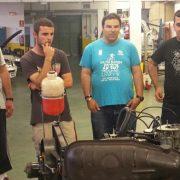 Alumnos de Grupo AMÁS en el curso Mecánica en Alcobendas. Foto: Grupo AMÁS.