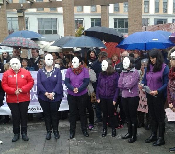 Manifestación contra la violencia machista. Foto: Grupo AMÁS.
