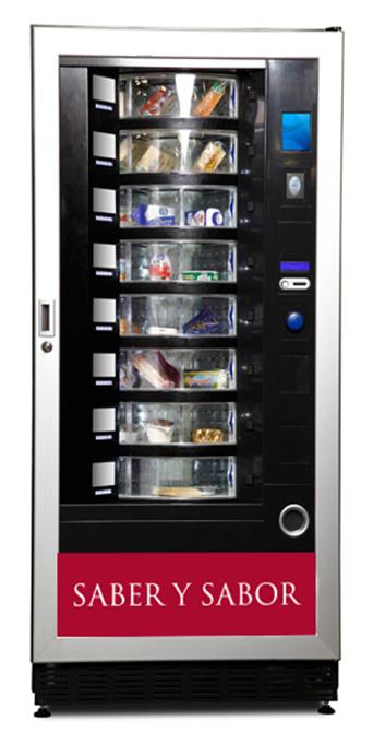 """Máquina Vending Solidario """"Saber y sabor"""", Foto: Grupo AMÁS."""