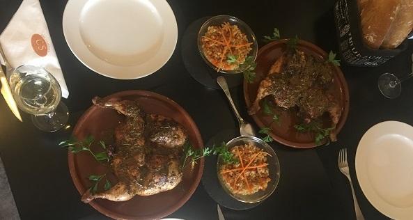 Pollo Solidario a la Brasa en el restaurante Cocina Selecta. Foto: Grupo AMÁS.