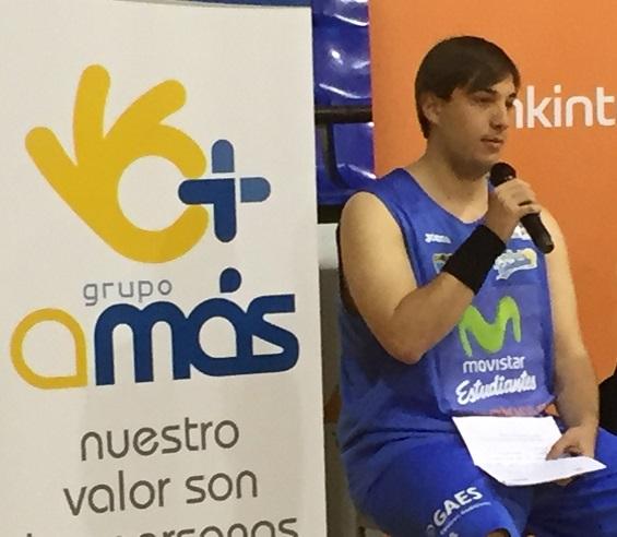 Miguel Mármol Muñoz, jugador de baloncesto de Grupo AMÁS. Foto: Grupo AMÁS.