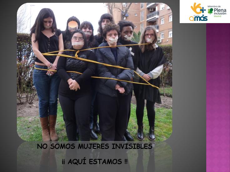 """""""Mujeres libres, mujeres que deciden"""". Foto: Grupo AMÁS."""