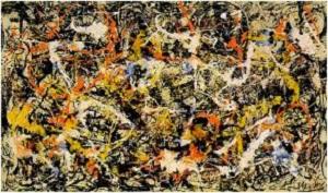 Obra original de Jackson Pollock.