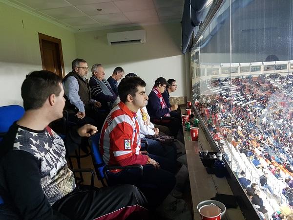 Momento del partido Atlético de Madrid- Guijuelo. Foto: Grupo AMÁS.