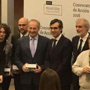 Óscar García, Dtor. General Desarrollo Corporativo de Grupo AMÁS en la entrega de ayudas de Acción Social 2016. Foto: Grupo AMÁS.