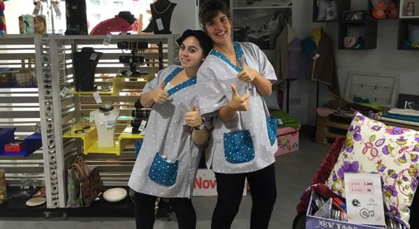 Trabajadoras de Concept Store Másymenos. Foto: Grupo AMÁS.