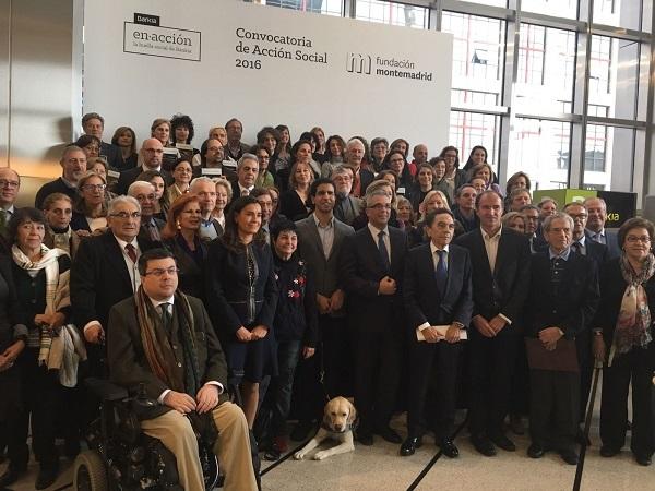 Acto de entrega de la convocatoria Acción Social 2016 de Bankia y Fundación Montemadrid. Foto: Grupo AMÁS.
