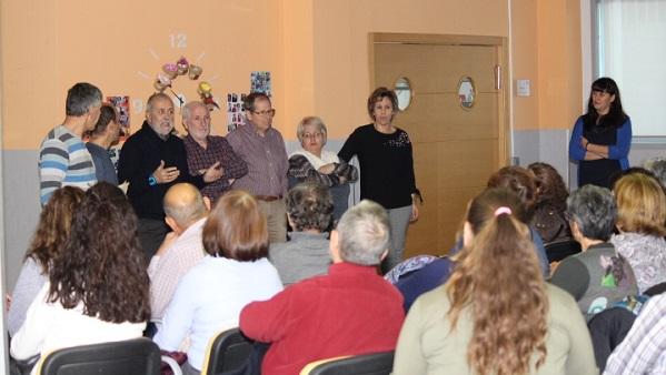Agradecimiento de los responsables de Grupo AMÁS a l@s voluntari@s de la entidad. Foto: Grupo AMÁS.