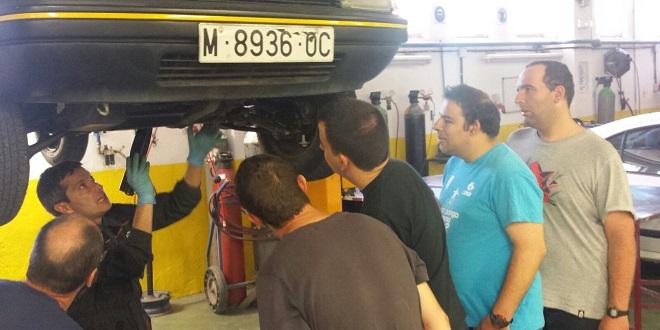 Curso Mecánica en Alcobendas. Foto: Grupo AMÁS.