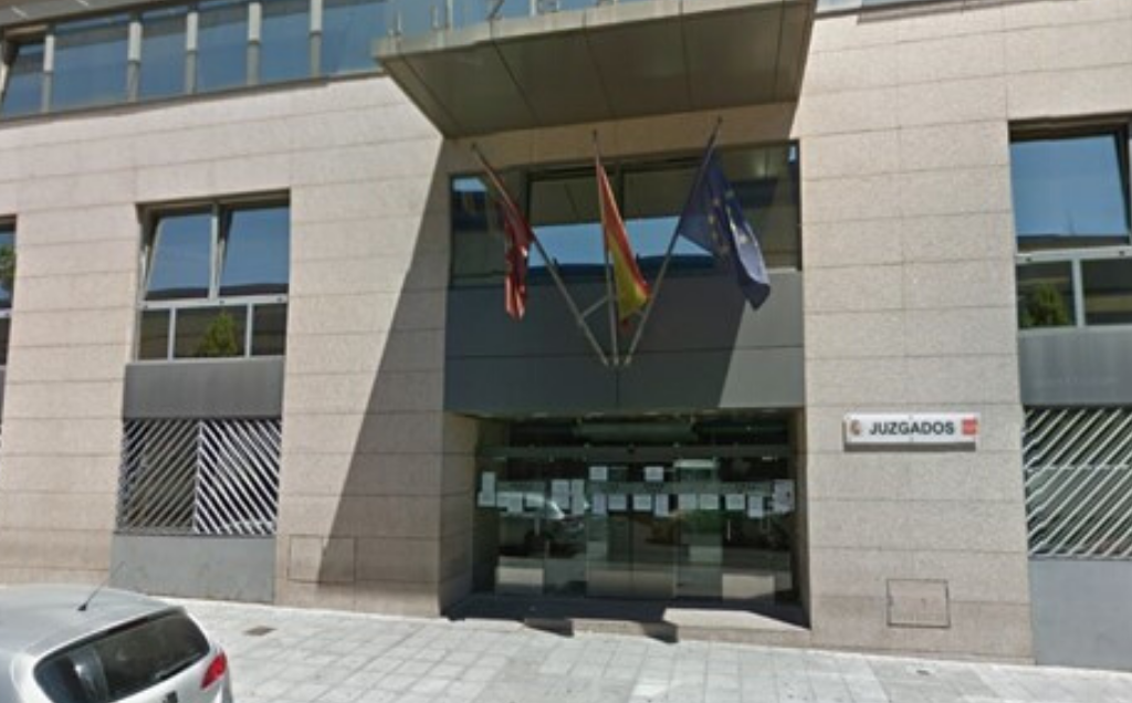 Exterior del edificio de los Juzgados de Fuenlabrada.