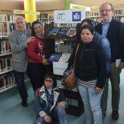Inaugurado el punto de lectura accesible en la Biblioteca Rigoberta Menchú de Leganés. Foto: Grupo AMÁS.