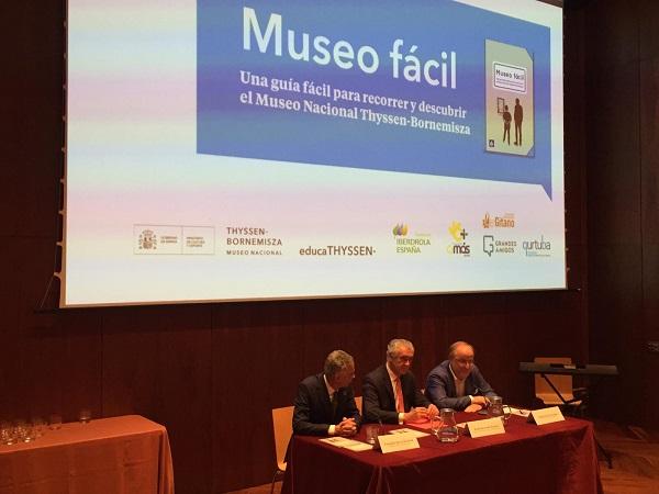 """Presentación de la guía """"Museo fácil"""" en el Museo Nacional Thyssen-Bornemisza . Foto: Grupo AMÁS."""