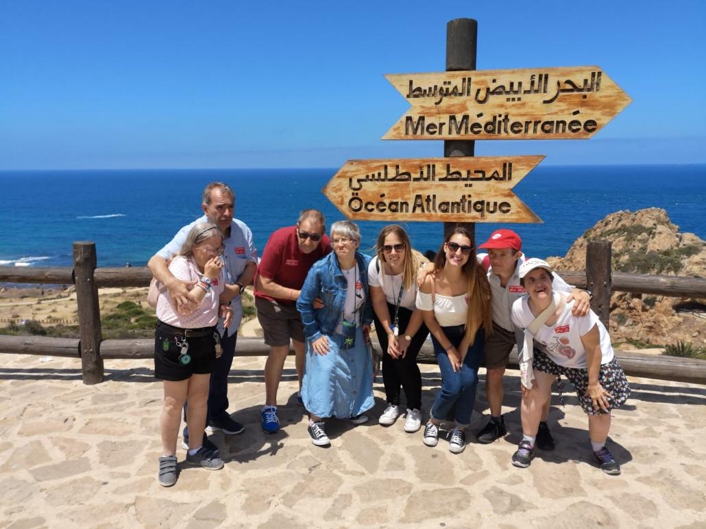 Grupo en un viaje autogestionado de la Residencia Hogares Los Pinos. Foto: Grupo AMÁS.