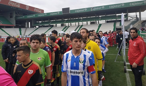 Jugadores de Grupo AMÁS integrantes del C.D,. Leganés Genuine. Foto: Grupo AMÁS