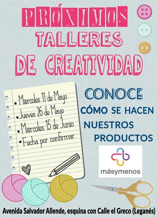 Talleres creativos de cara al público en Másymenos. Foto: Grupo AMÁS.