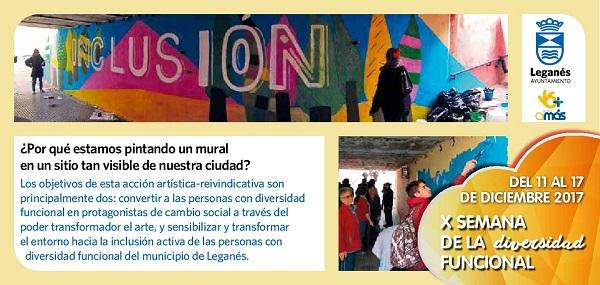 Del 11 al 17 de diciembre el Ayuntamiento de Leganés celebra la X Semana de la Diversidad.
