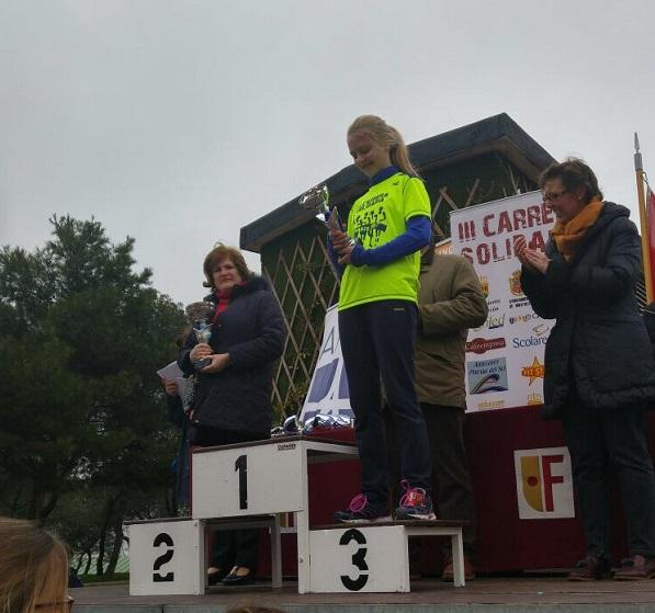 Entrega de trofeos de la III Carrera Solidaria. Foto: Grupo AMÁS.
