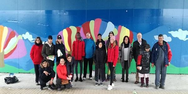 """Mural inclusivo """"Transforma tu ciudad"""". Foto: Grupo AMÁS."""