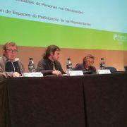 """Óscar Arroyo, Elena Muñoz y David García, representantes de Comité Ciudadanía en la Jornada """"Yo también cuento""""."""